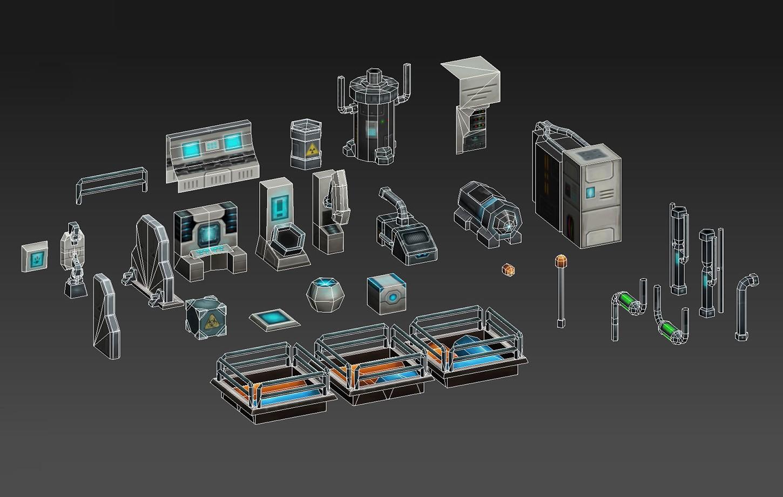 Sci-Fi Modular Space Laboratory
