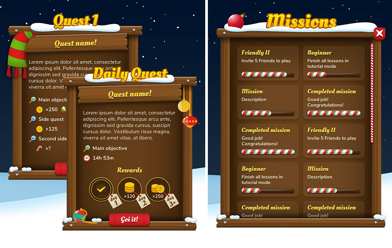 Christmas Winter GUI / UI Kit