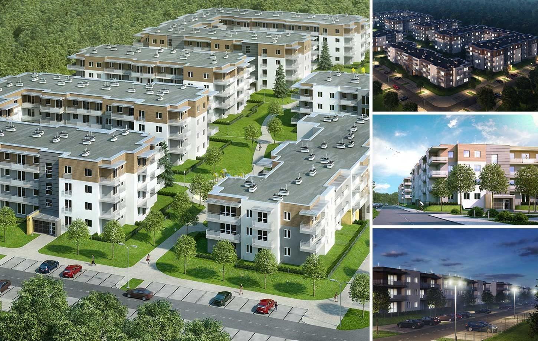 Wizualizacja Zielonego Osiedla dla firmy Budopol