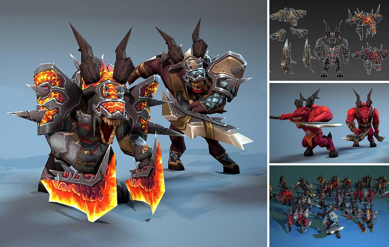 15K Animated Demons Set