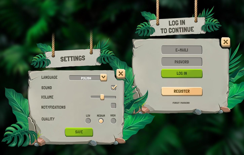 Stone & Jungle GUI / UI Kit