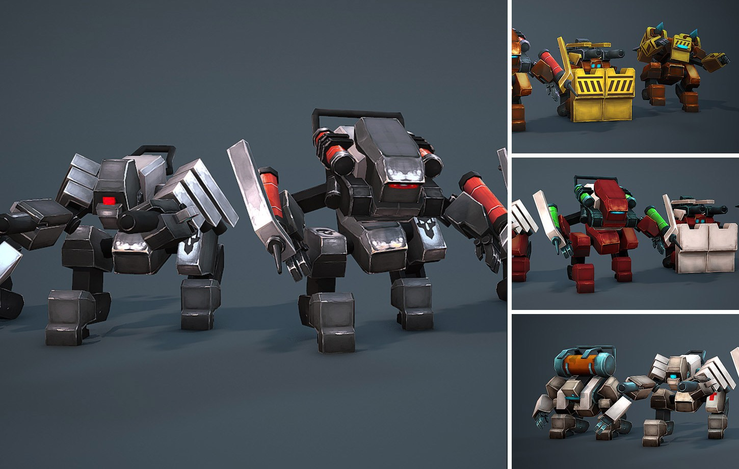 Animated Space Robots