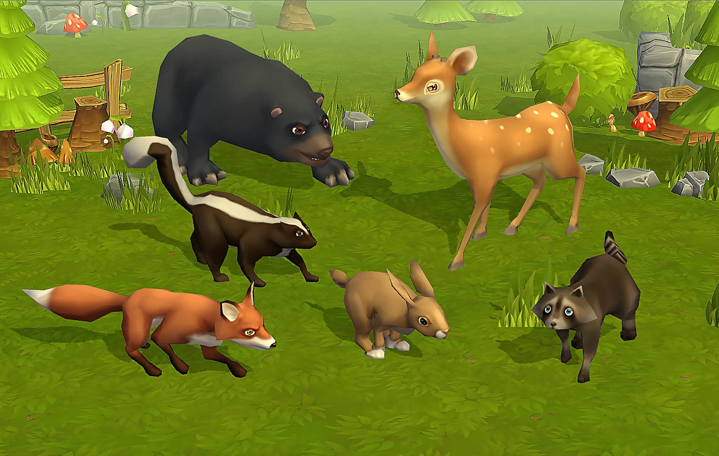 Animated Fantasy Wild Animals Pack