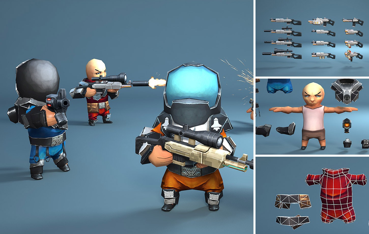 Animated Space Man Set