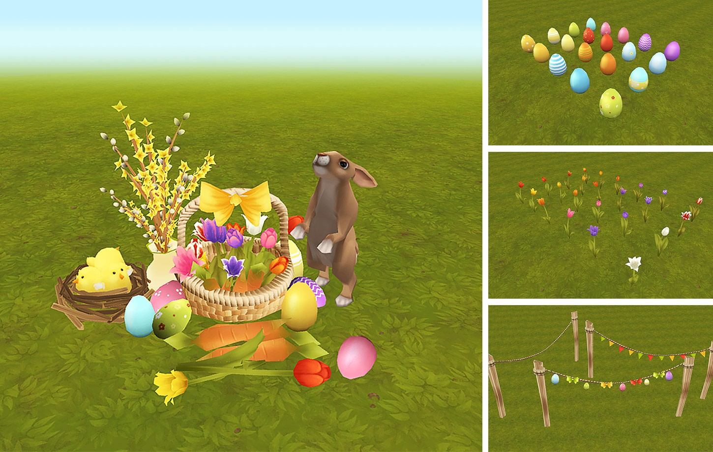 Easter Lowpoly Props
