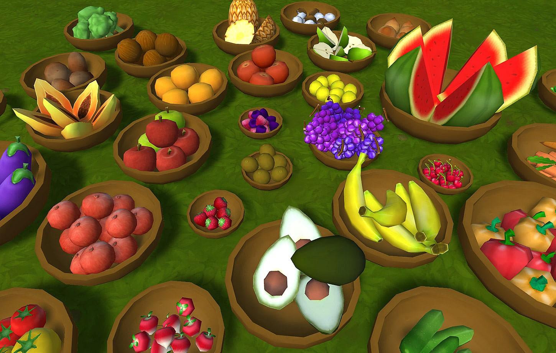 Fruits & Vegetables Huge Lowpoly Handpainted Props Pack