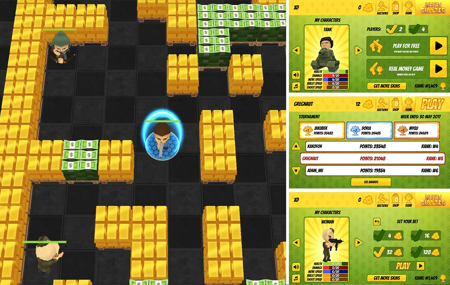 Money Shooter - gra mobilna + HTML
